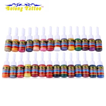 Solong Tattoo 5ml 28 Colors / Set Long Lasting Pigments Tattoo Inks - intl