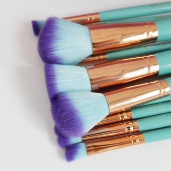 Spectrum Brushes Mermaid Dreams 10 Piece Vegan Brush Set Glam ClamCase (Multicolor) - 4