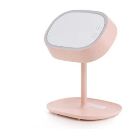 Sqlife Led Makeup Mirror Table Lamp Charging Desktop Storage With Light Folding Dressing Beauty