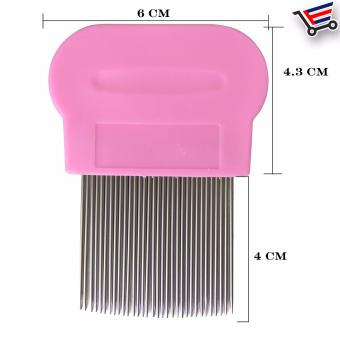 Stainless Steel Lice Terminator Hair Comb Brushes Magic Suyod(Pink) - 2