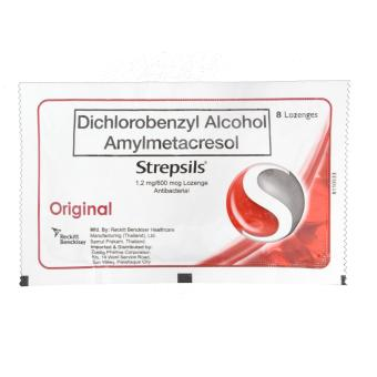 STREPSILS Original For Sore & Itchy Throat 8 Lozenges Set of 5 - 2