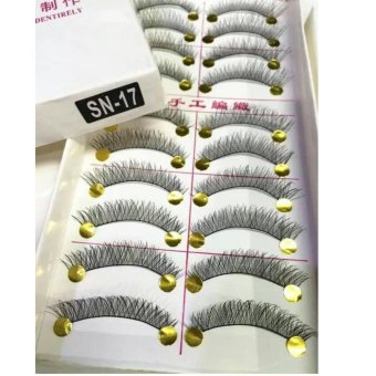 Taiwan Natural Black Long False Eyelashes (10 Pairs) - SN17