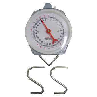 taiwan salter mechanical hanging scale (white)