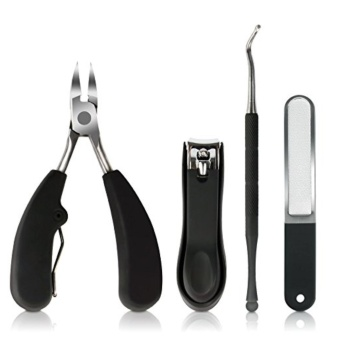 Toenail Clipper Professional Nail Nipper for Thick & IngrownNails with Nail File & Nail Lifter - intl