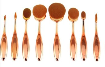 Toothbrush Makeup Brush Foundation Brush - Rose Gold - intl