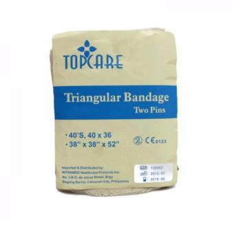 Topcare Triangular Bandage Two Pins Beige