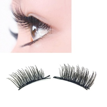 Ultra-thin 0.2mm Magnetic Eye Lashes 3D Reusable False MagnetEyelashes - intl