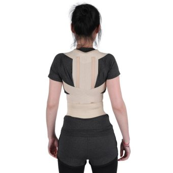 Unisex Posture Correction Waist Shoulder Chest Back Support Corrector Belt (L) - intl Price Philippines