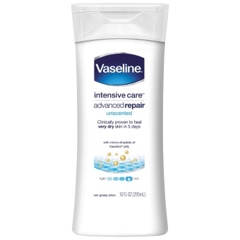 Vaseline Intensive Care Lotion Advanced Repair Unscented 10oz - 2