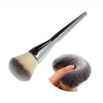 Very Big Beauty Powder Brush Blush Foundation Round Make Up Tool Large Cosmetics Aluminum Brushes Soft Face Makeup - intl