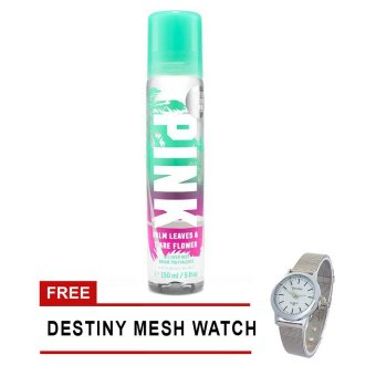 Victoria's Secret Pink Limited Edition Palm Leaves & Tiare Flower All-Over Mist 150ml FREE Destiny Watch (Pink/Green)