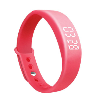 W5 Smart Wristband Bracelet 3D Pedometer Sleep Monitoring Red