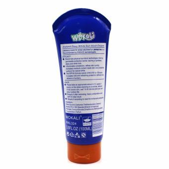 Wokali Dewy White Sun Block Cream (Blue) 100ml Set of 2 - 3