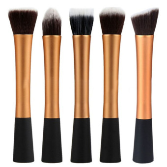 Women 5Pcs/Set Make-up Accessories Brushes (Gold) - Intl