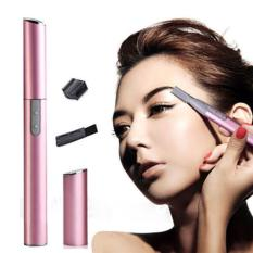 Women Lady Face Hair Electric Eyebrow Trimmer Shaver Razor Set With no battery - intl Philippines