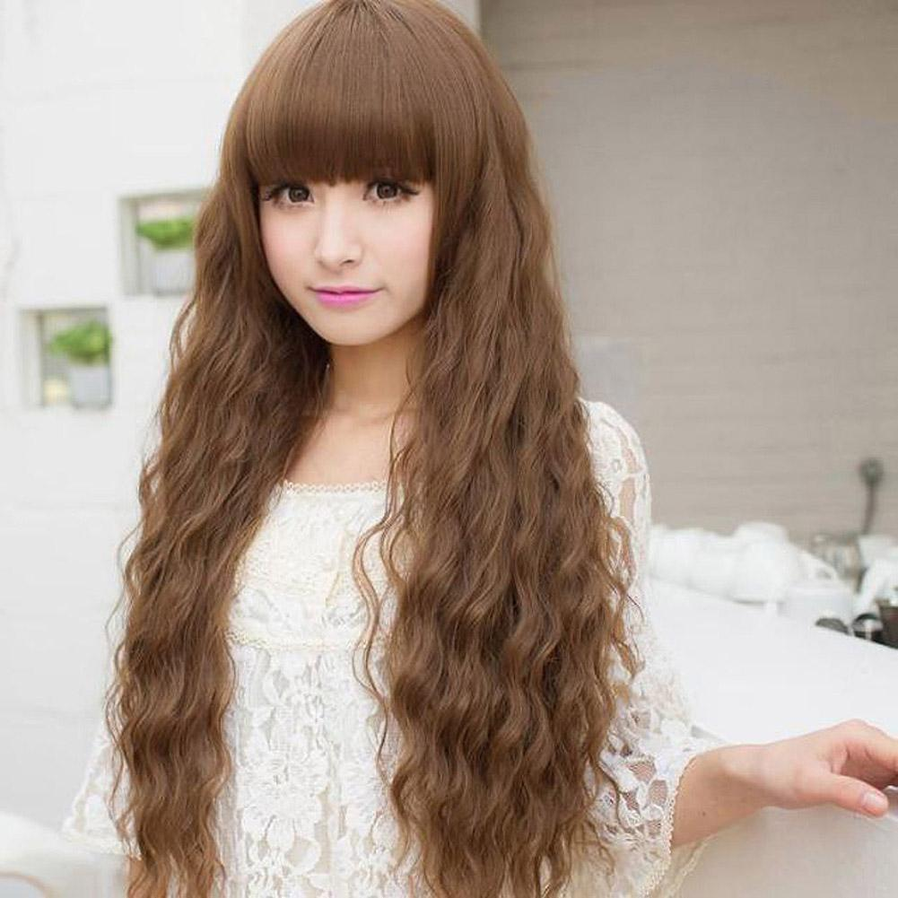 ... Women Long Curly Wavy Hair Full Wig Cosplay Party Wig - intl ...