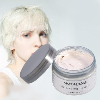 Women Men Disposable Hairstyle Styling Modeling Hair Coloring Wax(White) - intl