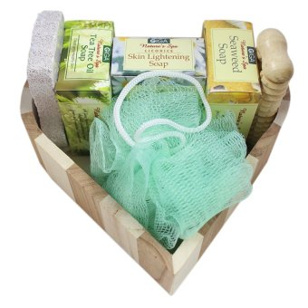 Wood Heart Bath Set A BS083 (7 pcs) - picture 2