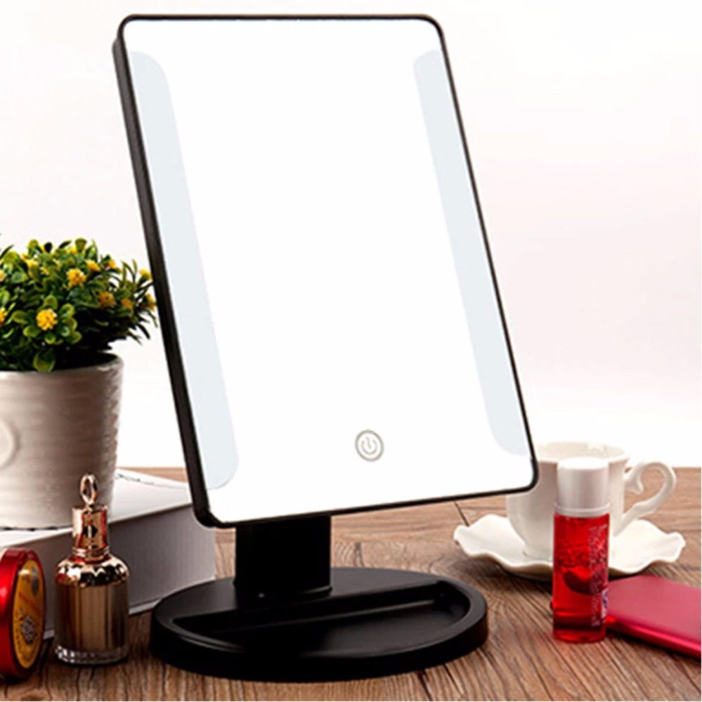 Xr 1608 Make Up Vanity Illuminated Desktop Table Makeup Stand Large Led Mirror With 16