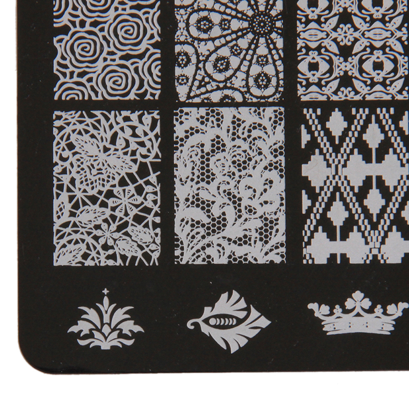 Yingwei Nail Art Templates Plates Manicure Stencil BC-07 Black .