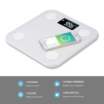 Yunmai mini Smart Scale - Body Fat Scale with Fitness APP and Body Composition Monitor with Extra Large Display, WHITE - intl - 2