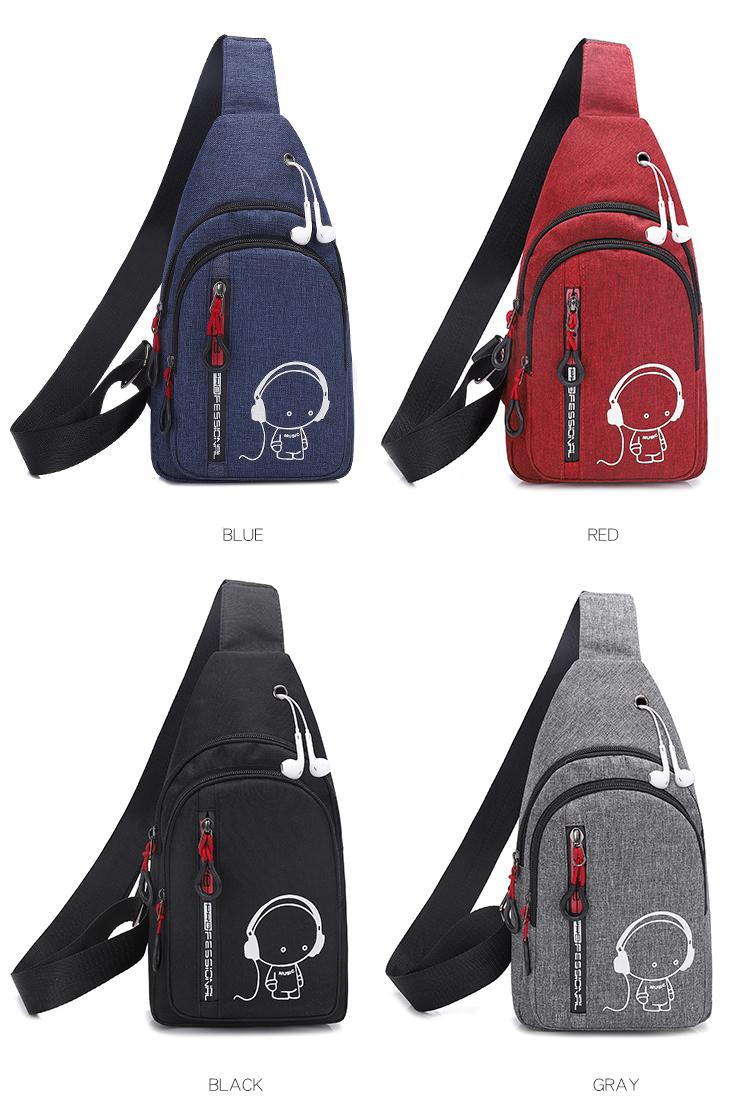 Men Womens Hiking Sling CrossBody Chest Bags Nylon Shoulder Messenger Backpack