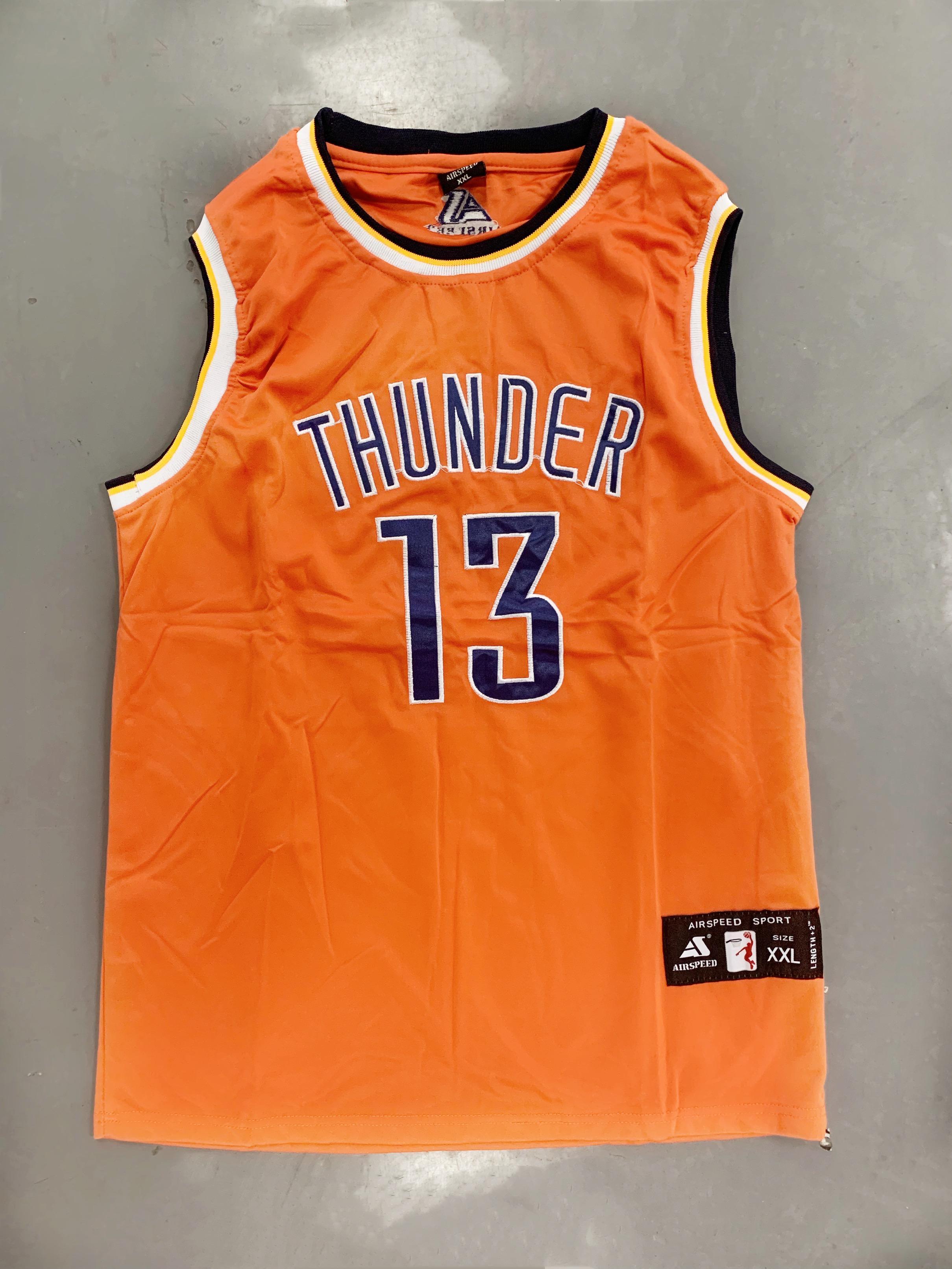 new style 6ea29 cc018 Basketball Jersey Sando Adults Thunder 13 NBA Basketball Jersey sando