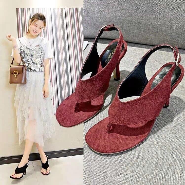 2020 new design korean suede high heels