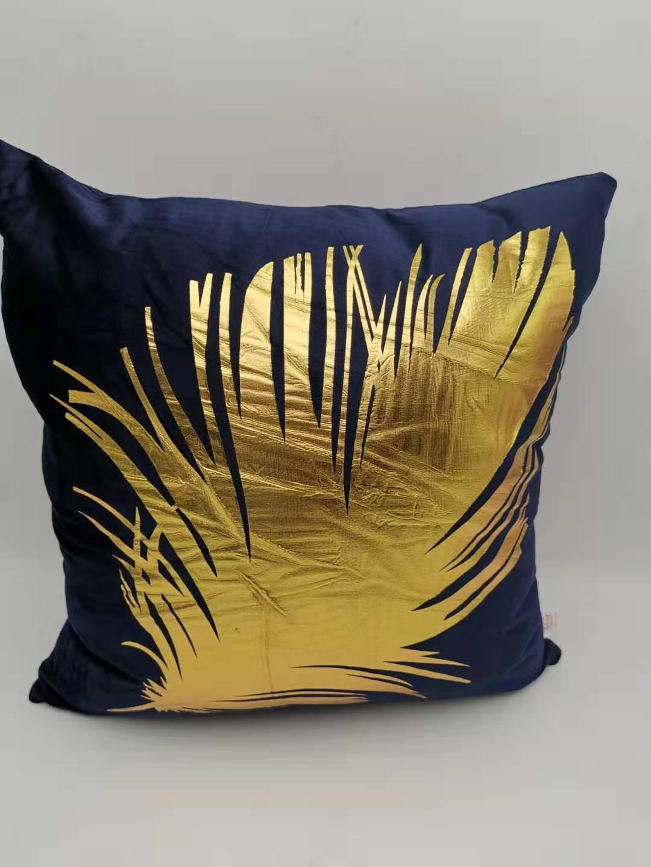 Gold Foil Print Black Pillow Case Waist Throw Cushion Cover Sofa Bed Home Decor