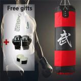 100 CM Empty Boxing Punching Bag Heavy MMA Training Fitness Kick Fight Sand Pouch Bag - intl