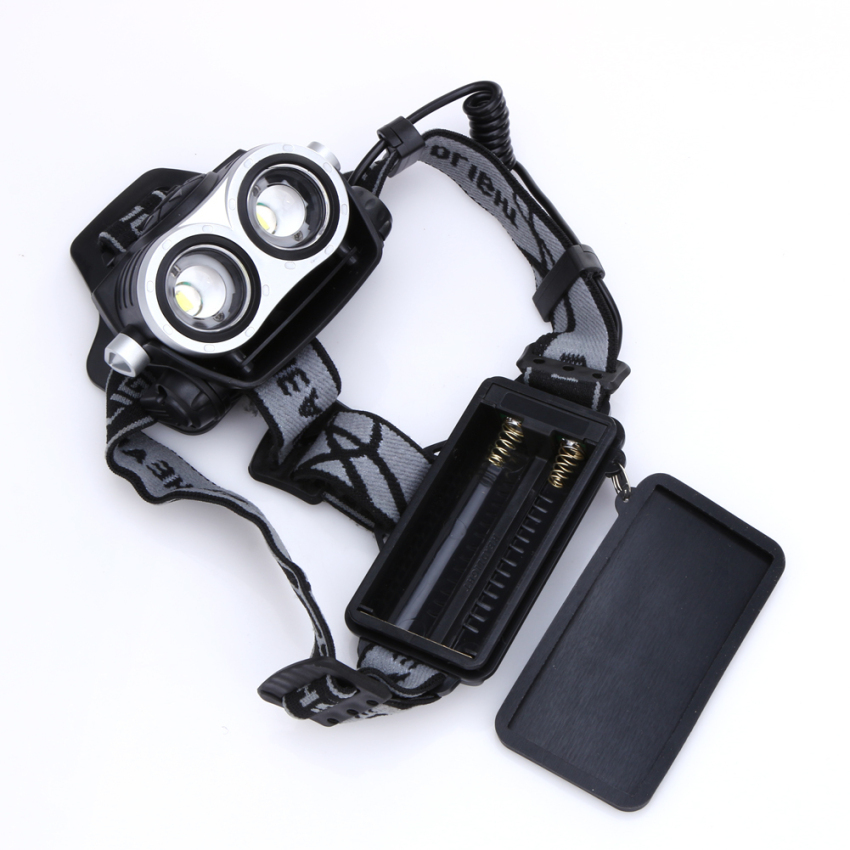10000Lm 2x T6 LED Rechargeable Zoom 18650 Headlamp Headlight Torch USB - 2