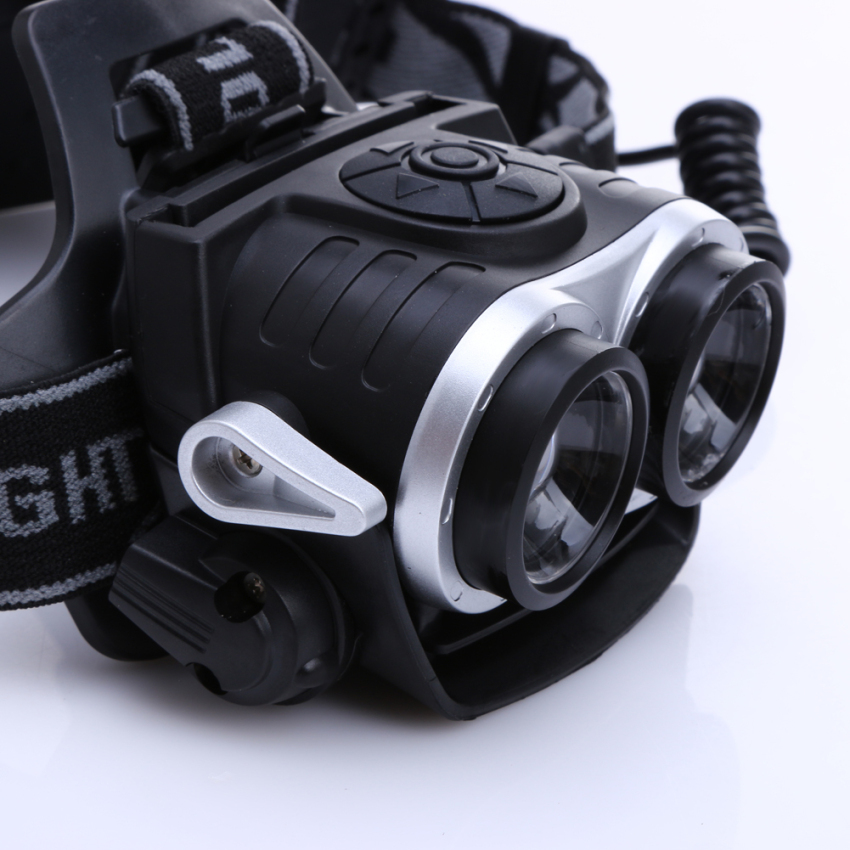 10000Lm 2x T6 LED Rechargeable Zoom 18650 Headlamp Headlight Torch USB - 5