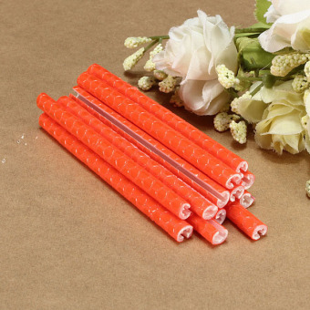 12pcs Bicycle Wheel Spoke Reflector Reflective Mount Clip Warning Tube Light Orange - picture 2