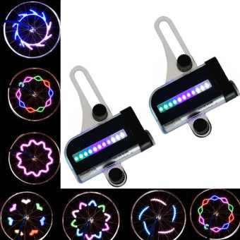 14 LED Motorcycle Cycling Bicycle Bike Wheel Signal Spoke Light Useful - 5