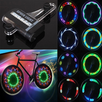 14 LED Motorcycle Cycling Bicycle Bike Wheel Signal Spoke Light Useful - 4
