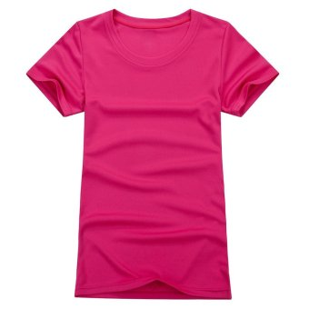 1PC Outdoor Women Sportwear Quick Dry T-Shirts Hot pink/L - picture 2