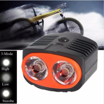 2 LED Owl Dual Bicycle Bike Head Light Lamp Front Light Mountainbike for riding equipment accessories - intl