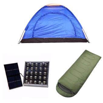 2 -Person Dome Camping Tent with Solar LED Lamp and OutdoorSleeping Bag Bundle Price Philippines