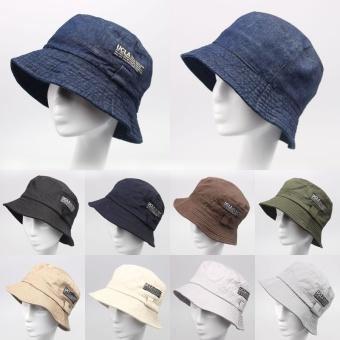 Price 2016 Fashion Cottonblend Denim Unisex Cap Bucket Hat Summer OutdoorFishing Caps for Men and Women Flat Sun Berets HT51041+20 - intl in Philippines