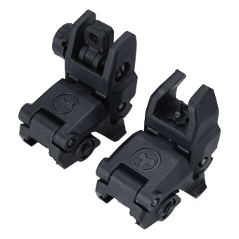 20MM Rail Gen1 2Pcs Tactical Folding Front/Rear Flip Up Backup Sights Set - intl Price Philippines