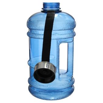 2.2 Liter (Half Gallon) 64oz BPA-Free Large Training Gym Water Bottle Handle - 3