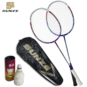 2Pcs Carbon Badminton Racket for Doubles