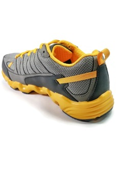 361 Degrees Masta Outdoor Comfort Trail Running Shoes (Grey/Yellow) - picture 3
