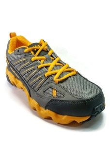 361 Degrees Masta Outdoor Comfort Trail Running Shoes (Grey/Yellow)