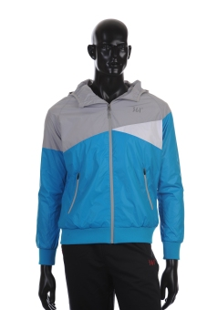 361 Degrees Running Series Hoody Jacket (Blue) - picture 2