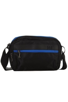 361 Degrees Twain Shoulder Bag (Black/Blue)