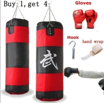 60CM Children MMA Fitness Sport Punch Punching Bag Hanging SandbagsSet Kick Fight Hook Set Boxing Bag for Strength Training Exercise -intl