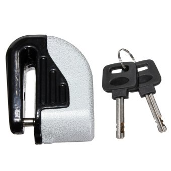6mm Disc Electron Security Lock Alarm (Silver)