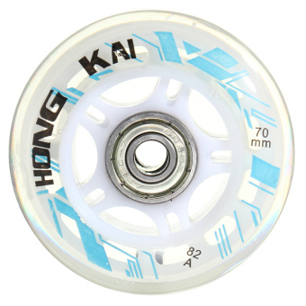 8 Pcs 70mm 82A Replacement Wheels Rollerblade Skating Inline Skate Shoes White - intl