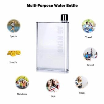 A5 Memo Bottle Portable Ultra Slim 420ML Water Bottle SET OF 2(Clear) - 5